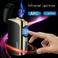 USB Electric Flameless Smart Rechargeable Windproof Lighter Cigarette H0Y5