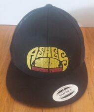 4aa40dd89f8603 ASHES Smoke Shop Trucker Mesh SnapBack Hat Cap Black Adjustable Denton Texas