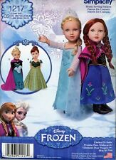 """Disney Frozen 18"""" Doll Clothes Simplicity Pattern 1217 Many Items Uncut"""