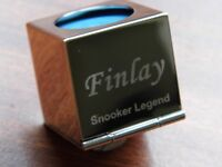 Engraved Personalised Snooker Pool Chalk Case Holder
