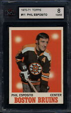 1970-71 TOPPS HOCKEY #11 PHIL ESPOSITO KSA 8 NM-MINT BOSTON BRUINS Card