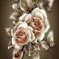 DIY 5D Diamond Painting Kits Full Drill Embroidery Cross Stitch Rose Mural