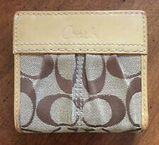 Coach Soho Pleated Signature Mini Wallet Beige/Tan 42815