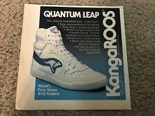 Vintage 1982 Kangaroos Quantum Leap Basketball Shoes Poster Print Ad Full Court