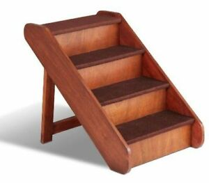 Foldable Wooden Pet Ladder (Dog/Cat) Puppy Stairs Portable Steps Bed Sofa Couch!