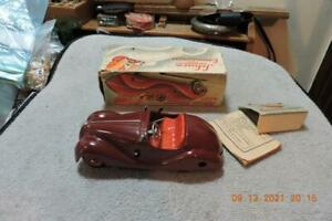Antique Schuco Examico 4001 Wind Up Model Car With box Clean