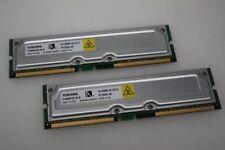 Toshiba RDRAM Computer Memory (RAM) with 2 Modules