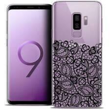 """Coque Crystal Gel Pour Samsung Galaxy S9+ (6.2"""") Souple Spring Bas dentelle Noir"""