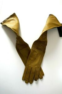 Burberry Prorsum Long Leather Gloves Women New With Tag