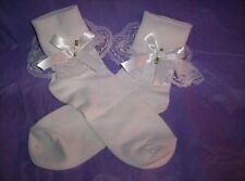 CUSTOM MADE SISSY WOMENS MENS FLIRTY DAINTY SEXY WHITE SATIN BOW ANKLETS TV CD