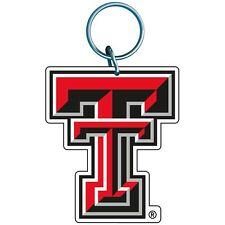 TEXAS TECH RED RAIDERS WINCRAFT PREMIUM ACRYLIC KEY RING BRAND NEW FREE SHIPPING