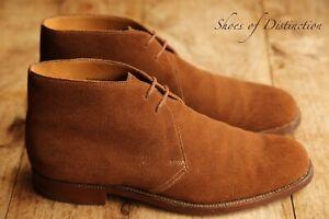 Men's Crockett & Jones Chertsey Brown Suede Chukka Boots Shoes UK 8.5 E US 9.5
