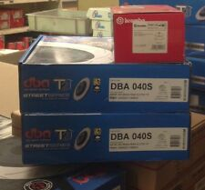 DBA T2 FRONT SLOTTED ROTORS & BREMBO PADS suit HOLDEN VY COMMODORE 6CYL 296mm