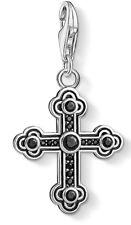 Thomas Sabo 1477-643-11 charm colgante cruz negra 925 Sterling plata