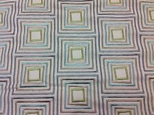 Fabricut Embroidered Drapery Upholstery Fabric- Basil Square/Mist 1.25yd 3650901