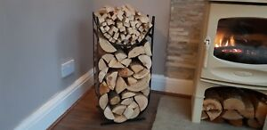 Handmade black Metal Firewood Log and Kindling Holder / store / rack / basket