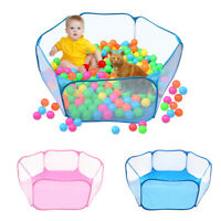 Foldable Outdoor Animal Cage Fence Polyester Breathable Pet Playpen Auto Pop-up
