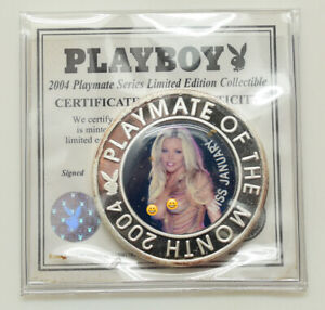 "50TH Anniversary Playboy ""2004 Playmate Of The Month"" Coin/Token Miss January"