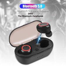 TWS Black 5.0 bluetooth D002 wireless earphone in ear earbuds wireless headset