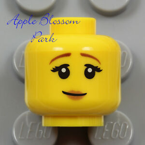 NEW Lego Female MINIFIG HEAD - Pink Lips Smile Pirate Castle Princess Queen Girl