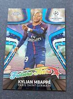 2017-18 Topps Chrome UEFA  Future Star KYLIAN MBAPPE  Paris Rookie Soccer Card