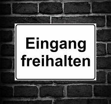 """Schild Hinweisschild Hinweis """"Eingang freihalten"""" Einfahrt Ausfahrt Verboten"""