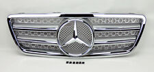 Mercedes E Class W210 00-02 Front Silver & Chrome AMG Style Hood Sport Grill