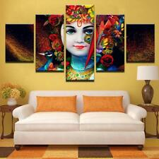 Lord Krishna 5 Panel Art Modular Framework Pictures Abstract Painting On Canvas