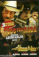 3 Peliculas De Accion -3 en 1 TODO POR NADA …..1 DISCO , NEW DVD