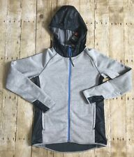 Under Armour Women's Loose ColdGear Gray & Navy Blue Zip Hooded Jacket Size SM/P