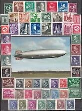Nazi Germany Zeppelin Postcard / Mint Lot Third Reich Stamps!!!