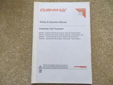 Cushman Turf Truckster Safety & Operator Manual (ref84)