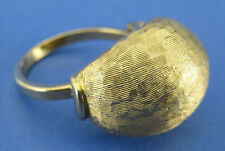 Fashion Cocktail Ring Gold Plated Burnished Bubble Look Size 7.75 Vintage