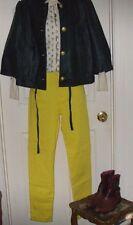 DG2 Sz 10 by Diane Gilman Yellow Straight Leg 5 Pocket Cotton Women's Jeans