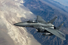 "19"" x 13"" Poster F15 Fighter Jet Military Airplane Eagle Plane"