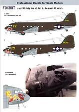 Foxbot Decals 1/72 DOUGLAS C-47 PIN-UP NOSE ART Slut II & Meat Waggin