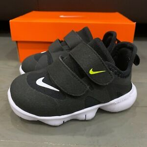 New Nike Free Run 5.0 Shoes Black Volt Size 6C AR4146-001 Toddlers