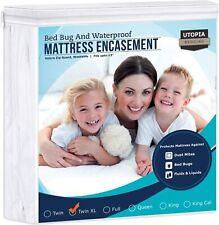 Zippered Mattress Encasement Bed Bug Waterproof Mattress Protector size Twin Xl