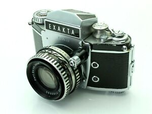 Ihagee Exakta Varex IIb 35mm SLR Camera with Carl Zeiss Pancolar f2 50mm Lens.
