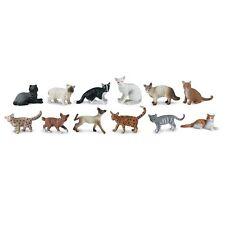 Domestic Cats Toob Safari Ltd. Siamese Persian Tabby Bengal Manx #699204