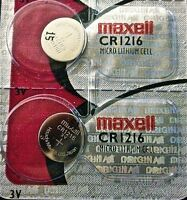 CR 1216 MAXELL LITHIUM BATTERIES (2 piece) 3V watch New Authorized Seller