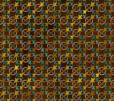 Fabric #2201, Autumn Harvest Teal Chain Mail Jason Yenter ITB Sold by 1/2 Yard