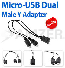 Genuine Samsung Convert Micro to Dual Micro USB Splitter Cable Useful Adapter x5
