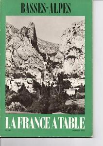 Ancien Magazine La France à Table - n° 143 - Janvier 1970 - Les Basses Alpes