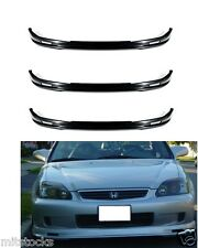 3 X 1999-2000 CIVIC 2 3 4 DOOR MU-GEN PU BLACK ADD-ON FRONT BUMPER LIP SPOILER