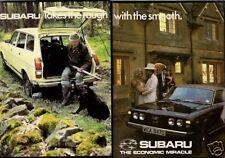 SUBARU 1600 1978-79 UK Mercato PIEGA BROCHURE 4x4 GFT Coupe DL ESTATE SALOON