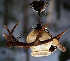 GEWEIHLUSTER Lampe GLAS Luster old austrian antler chandelier Bauernluster TOP