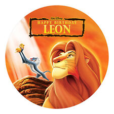 LION KING PERSONALISED EDIBLE ICING IMAGE PARTY CAKE TOPPER ROUND