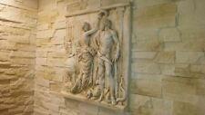 Relief Beige Groß Griechische Skulptur Wandrelief Bild Flachrelief Wandbilder