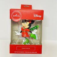 Hallmark 2020 Disney MINNIE MOUSE Ice Skating Christmas Red Box Ornament